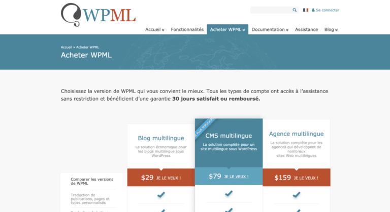 Acheter Wpml WordPress