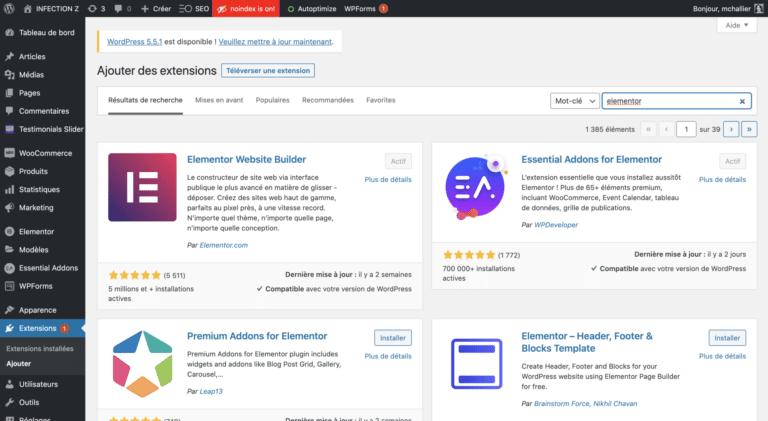 Telecharger Elementor WordPress