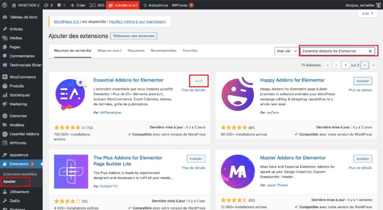 Telecharger Essential Addons Elementor WordPress
