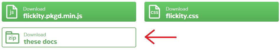 Téléchargement des fichiers liés à Flickity